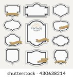 frame classic template. vintage ... | Shutterstock .eps vector #430638214