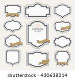 frame classic template. vintage ... | Shutterstock .eps vector #430638214