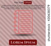note book icon vector symbol... | Shutterstock .eps vector #430638379