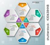 vector abstract 3d paper... | Shutterstock .eps vector #430638448