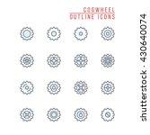 cogwheel outline icons   Shutterstock .eps vector #430640074