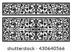 vector vintage border frame... | Shutterstock .eps vector #430640566