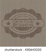 grow your business retro style... | Shutterstock .eps vector #430643320