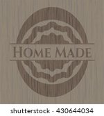 home made wood emblem | Shutterstock .eps vector #430644034