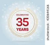 35 years anniversary badge on... | Shutterstock .eps vector #430644166