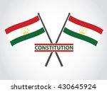 tajikistan emblem constitution | Shutterstock .eps vector #430645924