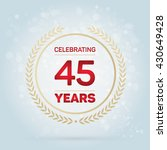 45 years anniversary badge on... | Shutterstock .eps vector #430649428
