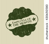 employee of the month rubber... | Shutterstock .eps vector #430650580