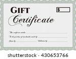 vector gift certificate....   Shutterstock .eps vector #430653766
