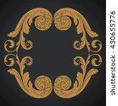 vintage baroque ornament. retro ... | Shutterstock .eps vector #430655776