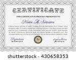 certificate template eps10 jpg... | Shutterstock .eps vector #430658353