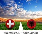 Small photo of Soccer Euro 2016 ( Football ) Albanian and Switzerland, Albanian and Switzerland, Albanian,Switzerland