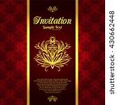 vintage background  invitation... | Shutterstock .eps vector #430662448