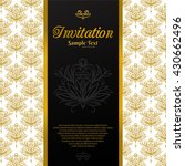 vintage background  invitation... | Shutterstock .eps vector #430662496