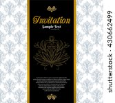 vintage background  invitation... | Shutterstock .eps vector #430662499