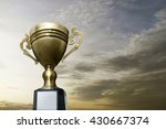 gold trophy cup for the winner... | Shutterstock . vector #430667374