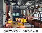 mexican restaurant in a loft... | Shutterstock . vector #430684768
