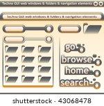 techno windows and navigation... | Shutterstock .eps vector #43068478
