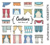 vector set with hand drawn... | Shutterstock .eps vector #430685974