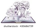 alice in wonderland. girl and...   Shutterstock .eps vector #430686739