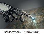 high detailed robotic hand... | Shutterstock . vector #430693804