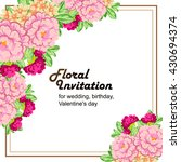 invitation with floral... | Shutterstock .eps vector #430694374