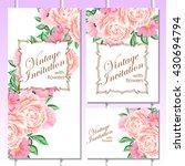 romantic invitation. wedding ... | Shutterstock .eps vector #430694794