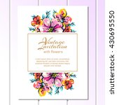 romantic invitation. wedding ... | Shutterstock .eps vector #430695550