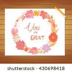 beautiful gentle watercolor... | Shutterstock .eps vector #430698418