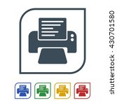 printer icon isolated on white... | Shutterstock .eps vector #430701580