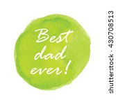 green watercolor vector with... | Shutterstock .eps vector #430708513