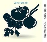 flat vegetables icon | Shutterstock .eps vector #430710358