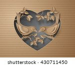 cardboard with love birds... | Shutterstock .eps vector #430711450