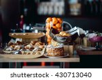 assortment of fresh pastry and... | Shutterstock . vector #430713040
