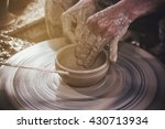 potter makes on the pottery... | Shutterstock . vector #430713934