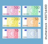 euro banknotes. paper money.... | Shutterstock .eps vector #430716400