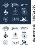 collection of vintage nautical... | Shutterstock .eps vector #430726030