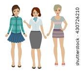 set of girls in different...   Shutterstock . vector #430726210