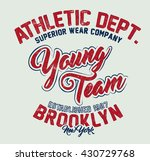 athletic department young team... | Shutterstock .eps vector #430729768