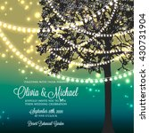 wedding invitation with glowing ... | Shutterstock .eps vector #430731904