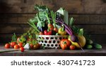 Fresh Vegetables In Basket On...