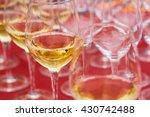 glasses of white wine on the... | Shutterstock . vector #430742488