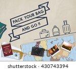 travel journey exploration... | Shutterstock . vector #430743394