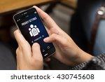 security concept  girl using a... | Shutterstock . vector #430745608