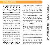 hand drawn set of line frames.... | Shutterstock .eps vector #430746580