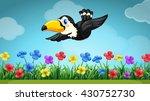scene with toucan flying in the ... | Shutterstock .eps vector #430752730