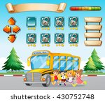 game template with kids and... | Shutterstock .eps vector #430752748