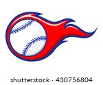 vector stock of baseball with... | Shutterstock .eps vector #430756804
