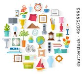 the set of home decor.... | Shutterstock .eps vector #430759993