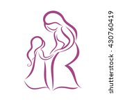 mother and daughter vector... | Shutterstock .eps vector #430760419